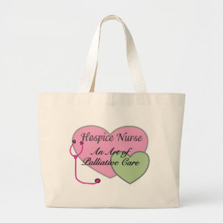 Hospice nurse an art of palliative care jumbo tote bag