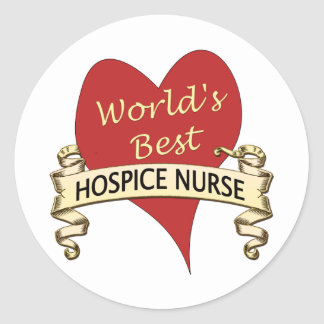 Hospice Nurse Round Sticker