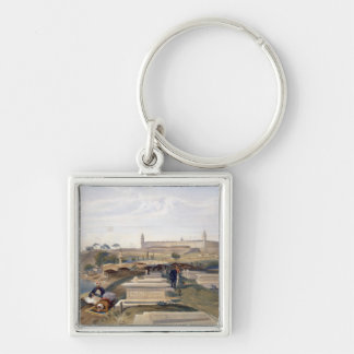 Hospital and Cemetery, Scutari, plate from 'The Se Silver-Colored Square Key Ring