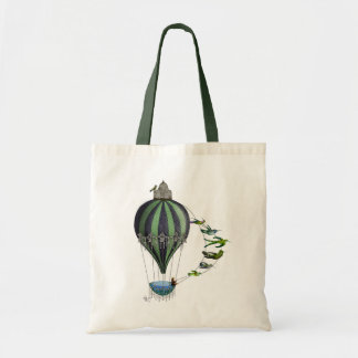 Hot Air Balloon and Birds Budget Tote Bag