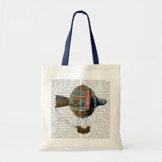 Hot Air Balloon With Tail Feather Budget Tote Bag