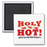 hot chilli peppers square magnet