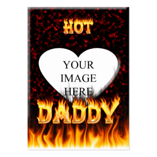 Hot Daddy fire and red marble heart Pack Of Chubby Business Cards