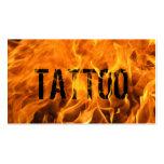Hot Flaming Fire Tattoo Business Card