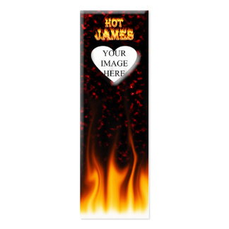 Hot James fire and red marble heart Pack Of Skinny Business Cards