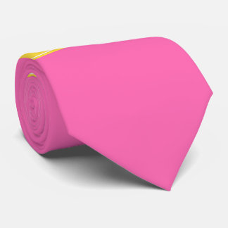 Hot Pink #2, Pineapple Ribbon Name Monogram Tie