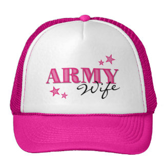 Hot Pink Army Wife w/Stars Hat