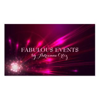 Hot Pink Magenta Lights Fireworks Neon Pack Of Standard Business Cards