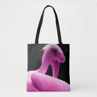 Hot Pink Pelican Tote Bag