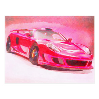 Hot Pink Racer Postcard