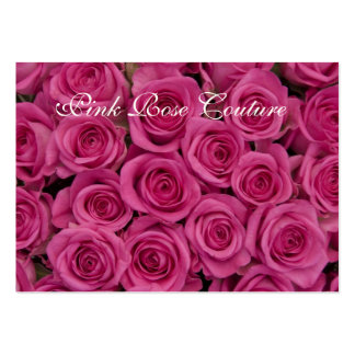 Hot Pink Roses Earring Display Business Card