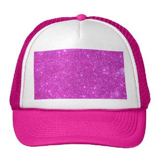Hot Pink Sparkle Glittery CricketDiane Art Cap