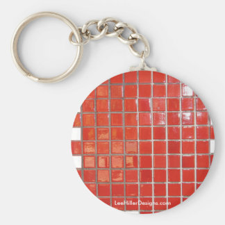 Hot Springs, AR Red Tiles Central Ave Gifts Basic Round Button Key Ring