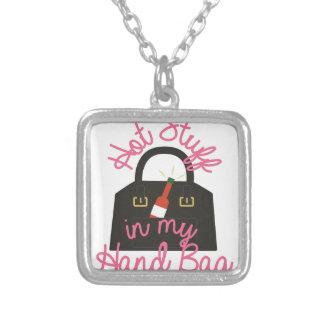 Hot Stuff Bag Square Pendant Necklace