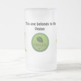 Hot Vegan Chick Frosted Glass Mug