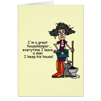 Housekeeper Humor Greeting Card