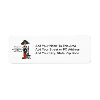Housekeeper Humor Return Address Label
