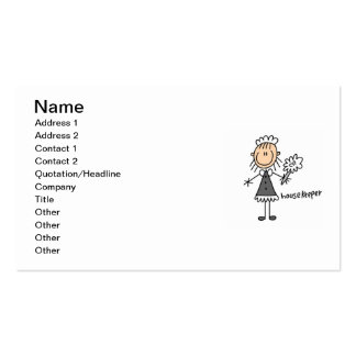 Housekeeper Stick Figure Pack Of Standard Business Cards