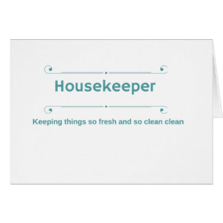 Housekeeper thank you card