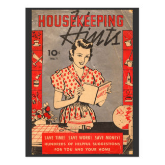 Housekeeping Hints 10 cents Vintage Postcard