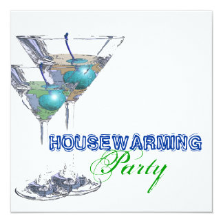 Housewarming dinner cocktail party CUSTOMIZE 13 Cm X 13 Cm Square Invitation Card