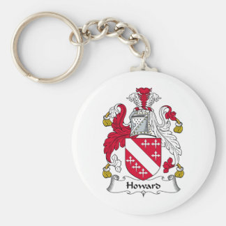 Howard Family Crest Basic Round Button Key Ring