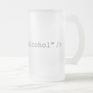 HTML Input Alcohol Frosted Glass Mug