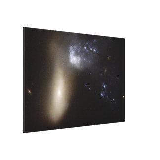 Hubble Interacting Galaxy NGC 454 Gallery Wrap Canvas