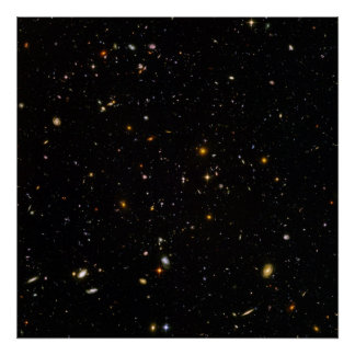 Hubble Ultra Deep Space Field Poster