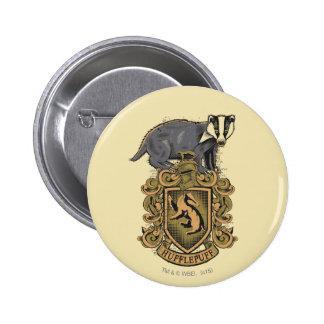 HUFFLEPUFF™ Crest 6 Cm Round Badge