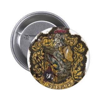 Hufflepuff Crest - Destroyed 6 Cm Round Badge
