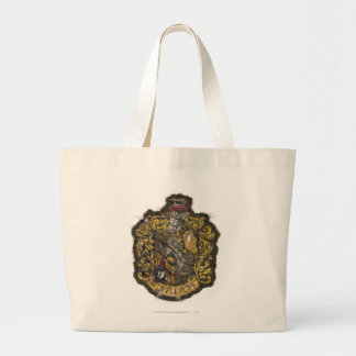 Hufflepuff Crest - Destroyed Jumbo Tote Bag