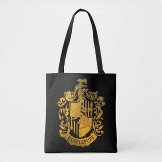 Hufflepuff Crest - Splattered Tote Bag