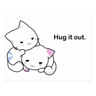 Hug it Out Kittens Postcard