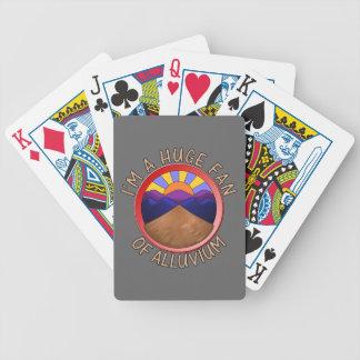 Huge Fan of Alluvium Pun Deck Of Cards