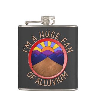 Huge Fan of Alluvium Pun Flask