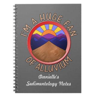 Huge Fan of Alluvium Pun Spiral Notebook