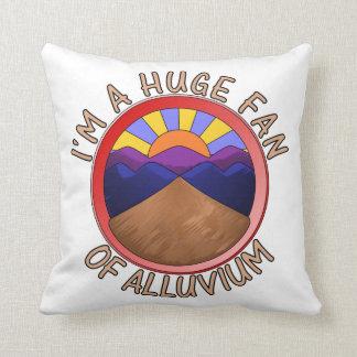 Huge Fan of Alluvium Pun Throw Cushion