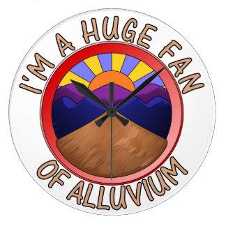 Huge Fan of Alluvium Pun Wall Clock