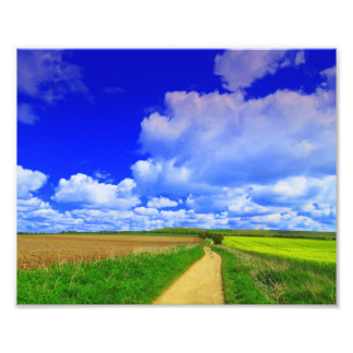 Huge sky over White Horse Hill Photograph