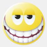 Huge Smile Smiley Face Round Sticker