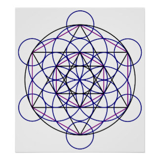 Human Merkaba Energy Field from our 7 Chakras Poster
