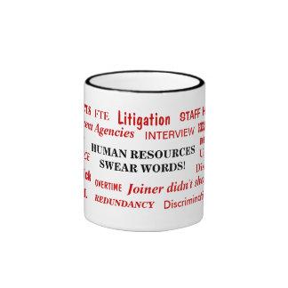 Human Resources Swear Words Annoying Funny Joke Ringer Mug