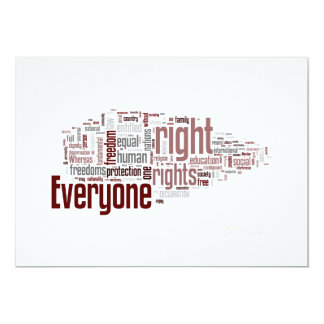 Human Rights 13 Cm X 18 Cm Invitation Card