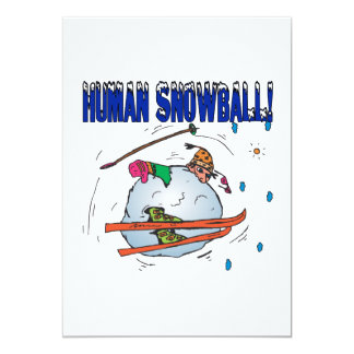 Human Snowball 13 Cm X 18 Cm Invitation Card