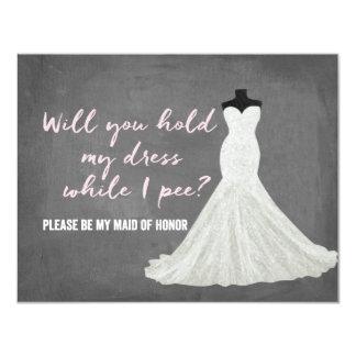 Humor Bride   Bridesmaid 11 Cm X 14 Cm Invitation Card