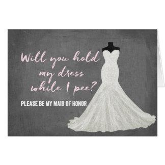 Humor Bride   Bridesmaid Note Card