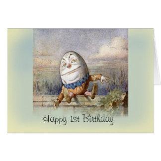 Humpty Dumpty first Birthday Greeting Card