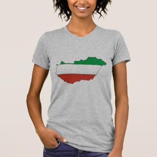 Hungary flag map tshirt
