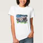 Hungry Hippo Ladies Fitted T-Shirt